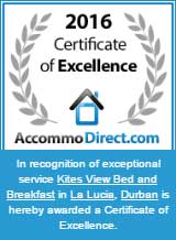 2016 Certificate of Excellence from AccommoDirect.com